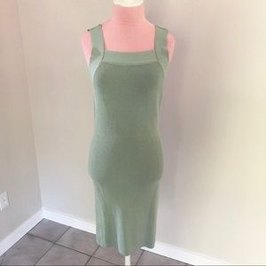 Urban Outfitters Mint Green Knit Bow Back Dress